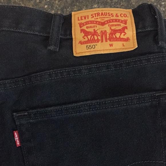 Levi Strauss 550 W 42 L 33 Black Jeans Red Tag